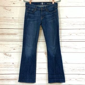 7 FOR ALL MANKIND bootcut S-26 dark blue jeans